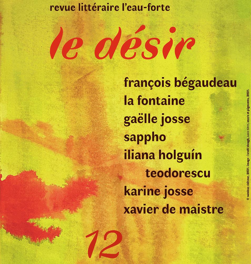 (Image : L'Eau-forte: Gaëlle Josse et Bégaudeau au registre du Désir)