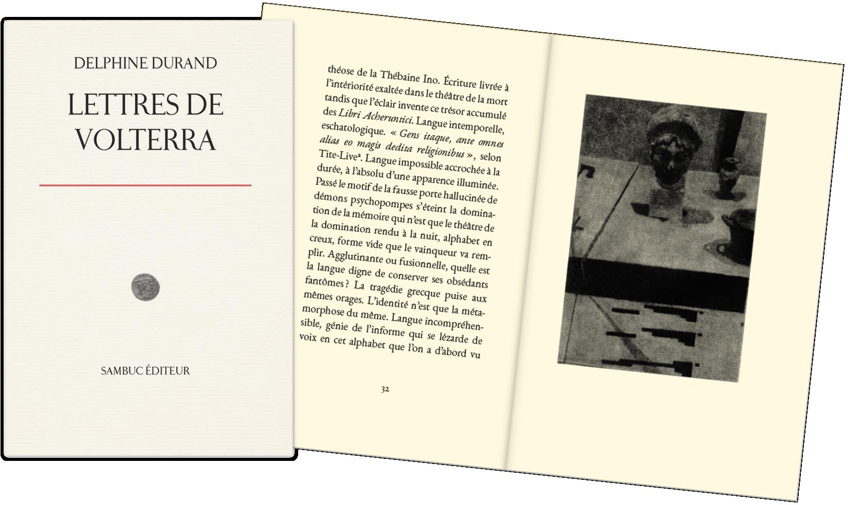 """""""Aperçu"""". Image du livre : Lettres de Volterra (par Delphine Durand)"""